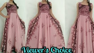 DIY| Convert Old Saree Into Long Gown Drees In 15 Minutes| Reuse Saree