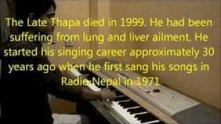 JATI MAYA LAYE PANI by Late.Arun Thapa (PIANO COVER)