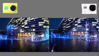 Original footage comparison: YI Action Camera VS SJ6000 WIFI Action Camera