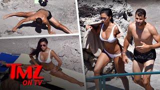 Nicole Scherzinger Shows Off Her Hot Bod While Doing The Splits In A Bikini | TMZ TV