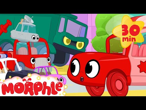 Morphle vs vehicle bandits. They steal a fire truck dump truck police car and many other vehicles