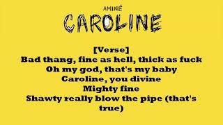 Aminé- Caroline (LYRICS) // WITH DOWNLOAD