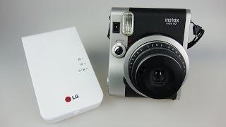 Instant Photo Shootout - Fujifilm Instax Mini 90 Camera & LG PD239 Zink Printer
