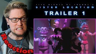 Five Nights At Freddy's Sister Location Trailer 1 REACTION & THOUGHTS!