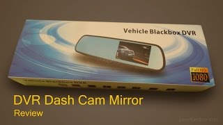 Dual Dash Cam Mirror and Rear Camera - Review and Unboxing.