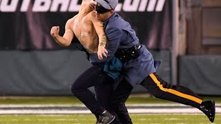 Streakers PUMMELED By Jets Security During MNF