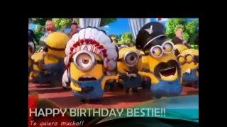 Minions wishing happy birthday  -  amazing video
