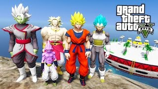 GTA 5 Mods - DRAGON BALL Z MOD w/ SUPER SAIYAN GOKU, VEGETA & KID BUU! (GTA 5 Mods Gameplay)