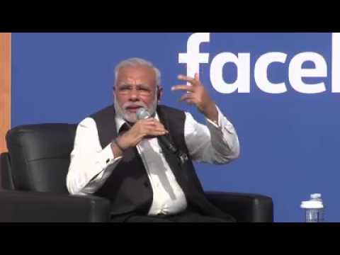 PM Narendra Modi in Tears for his Mother - Facebook Mark Zuckerberg