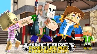 Minecraft Family life #61 - A HOBO BEATS US UP!! - Little Donny & Baby Leah.