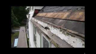 """""""Yankee"""" Style Built in Copper Roof Gutter Installation"""