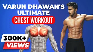 Varun Dhawan Chest Workout - Detailed Chest Workout Plan in Gym | BeerBiceps Bollywood Bodies