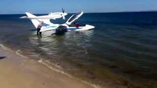 A new Seawind seaplane that landed... Well I guess... Next... To Bribie Island