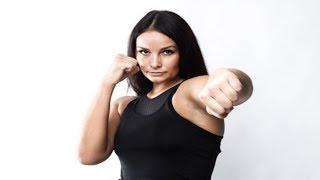 6-foot-5 Belarusian Female Kickboxing Champ spars against UFC & Bellator heavyweights