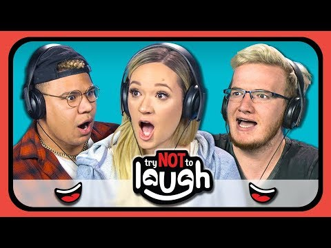 YouTubers React to Try to Watch This Without Laughing or Grinning 12