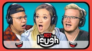 YouTubers React to Try to Watch This Without Laughing or Grinning #12