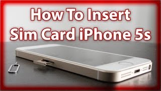 How To Insert And Remove The Sim Card In The iPhone SE & 5s