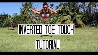 Inverted Toe Touch Tutorial - Ambers Cheer Tutorials