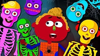 Midnight Fun : Five Crazy Funny Skeletons Jumping On The Grave | Funny Nursery Rhymes & Baby Songs