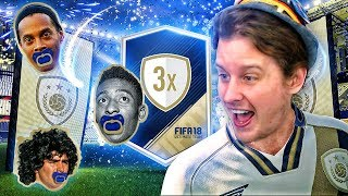 OMG MY BEST ICON EVER?! 3X GUARANTEED ICON SBC PACK OPENING! FIFA 18 ULTIMATE TEAM