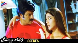 Srimannarayana Movie Scenes - Parvathi Melton trying to convince Balakrishna - Isha Chawla, Chakri