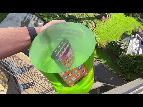 Can World s STRONGEST JELLO Protect iPhone 11 Pro from 50 FT Drop Test