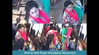 Female shoplifters at a Shimla Mall Road showroom caught on CCTV