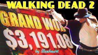 ★GRAND JACKPOT SIGHTING★ The WALKING DEAD 2 slot machine BIG BONUS WINS!