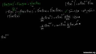مشتق ۱۸ - مشتق توان یک تابع