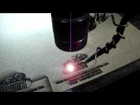 Corte de MDF con laser de corte y grabado
