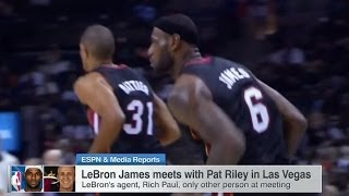 July 09, 2014 - ESPN - LeBron James Met with Pat Riley in Vegas today with No commitment from LeBron