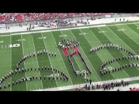 Ohio State Marching Band Disney Tribute Halftime vs Buffalo Aug. 31 2013