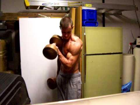 Weight lifting garage workout