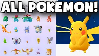 Pokemon Go ALL POKEMON CAUGHT | FIRST PLAYER TO COLLECT ALL AVAILABLE POKEMON / COMPLETED POKEDEX