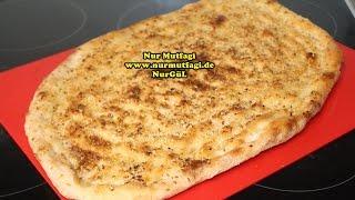 Tirnakli küncülü Pide nasil yapilir tarifi - ev yapimi susamli Ekmek tarifi