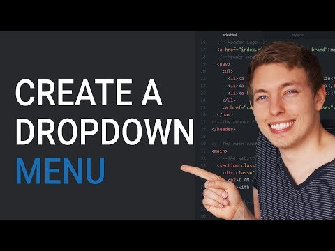 37: How to create an HTML dropdown menu | Learn HTML and CSS | HTML tutorial | HTML for Beginners