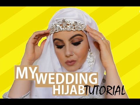 Elegant Wedding Hijab Tutorial♡   Amina Chebbi