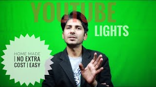 Make Your Own Best Light Setup For Youtube Videography On Green Screen At Home -Easy Tips In Hindi