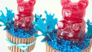 Giant Gummy Bear kitkat and m&m cake HOW TO COOK THAT Ann Reardon