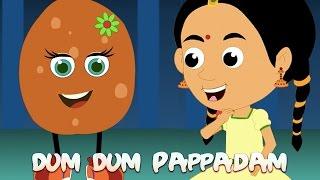 Dum Dum Pappadam | ഡും ഡും പപ്പടും | Popular Malayalam Rhymes Animation | Malayalam Kutti Paatugal