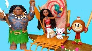 MOANA STARLIGHT CANOE AND PERCUSSION SET Disney Toys Review | itsplaytime612