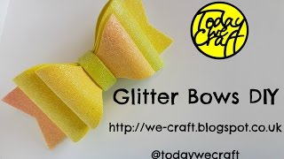 How to make glitter hair bows full diy