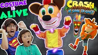 THE COSTUME IS ALIVE!!  FGTEEV DUDDY & MIKE play CRASH BANDICOOT N. SANE Trilogy