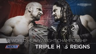 WWE Wrestlemania 32 Promo 2016 - Triple H vs Roman Reigns
