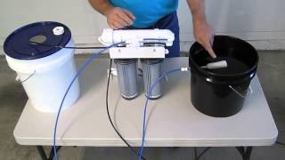 How to install an automatic shut off valve on a reverse osmosis system.