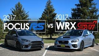 2017 Ford Focus RS vs 2017 Subaru WRX STI – Comparison | Driving Reviews