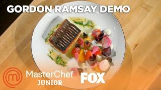 Gordon Ramsay's Pan Roasted Sea Bass With Cauliflower Puree | Season 5 | MASTERCHEF JUNIOR