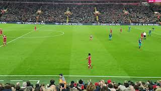 Mo Salah is substituted vs Southampton at Anfield 18/11/2017