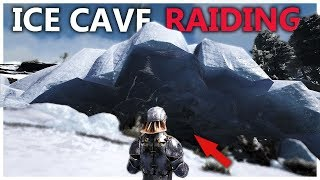 RAIDING THE ISLAND ICE CAVE - SMALL TRIBES S4E10 | Ark: Survival Evolved