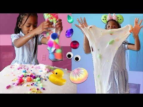 Adding Too Much Ingredients Into SLIME Too Much Of Everything Into Slime